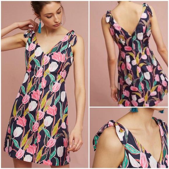 5358dc601ec5 Anthropologie Dresses | Flora Pleated Dress Nwt Donna Morgan | Poshmark